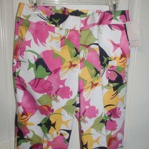 Susan Bristol Fish Capri Pants NWT $69 size 8
